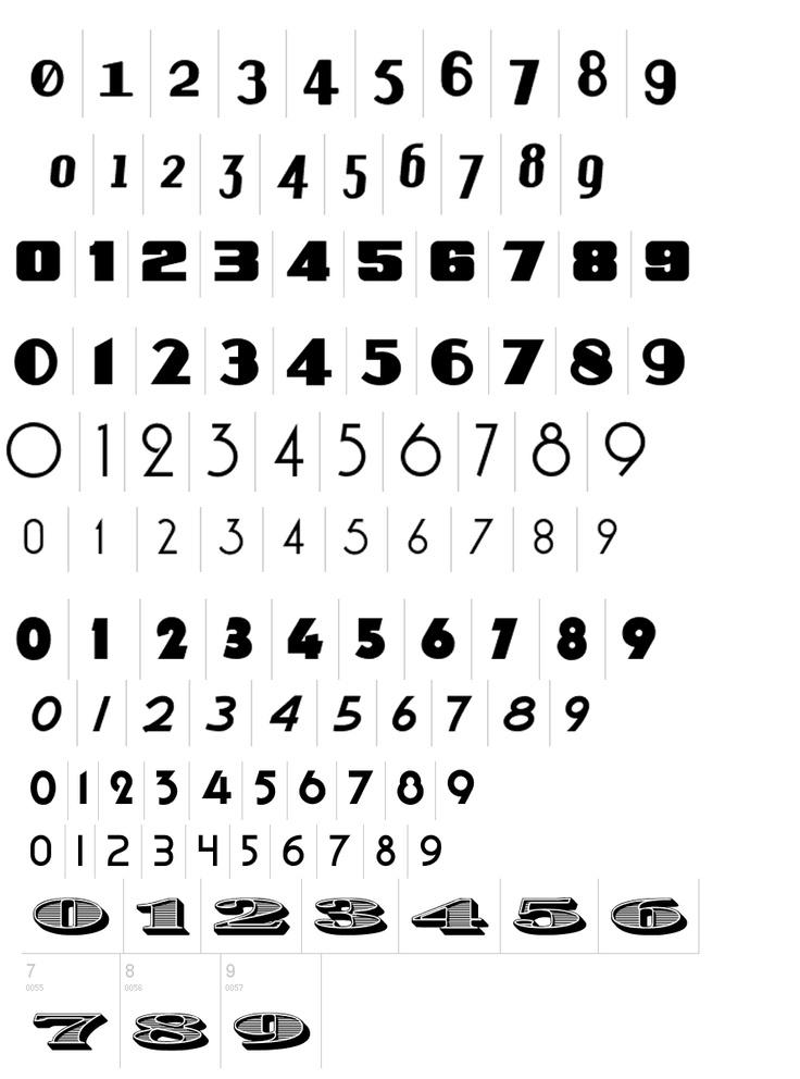 vintage numbers type numbers font Tattoos Pinterest
