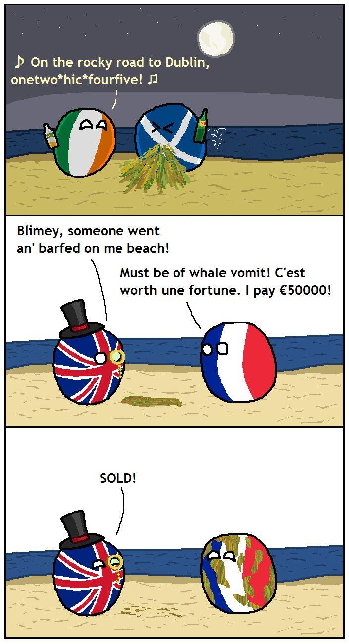 Polandball News Luxurious vomit found on British beach