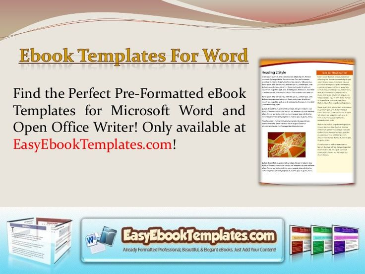 Microsoft Word Ebook Template  book outline template 9 free word