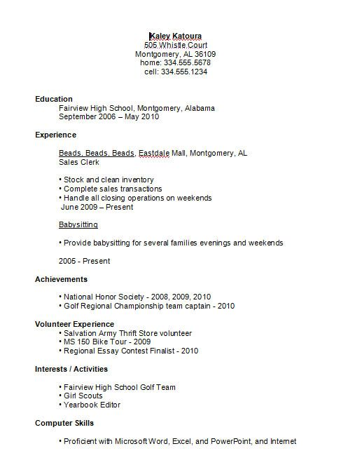 1000 ideas about high school resume template on pinterest high