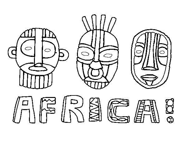 Africa Coloring Pages For Kids
