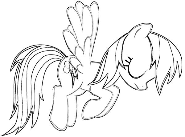 My Little Pony Sad Coloring Page Coloring Pinterest