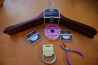 A DIY Wedding Hanger :  wedding crafts decor diy gift ideas northern california