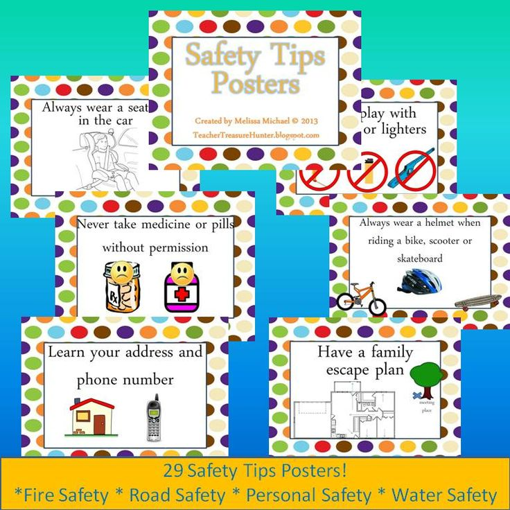 Safety Tips Posters Dots Background Water, Fire