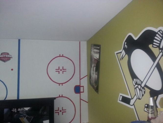 Hockey Theme Room Except Sooooo Not Penguins Pittsburgh