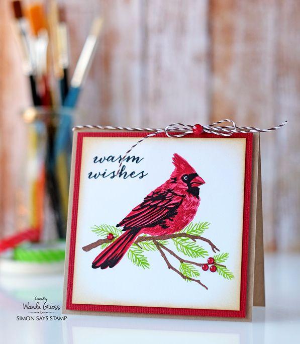 Hero Arts Layering Cardinal Stamp Set Masterpiece Box