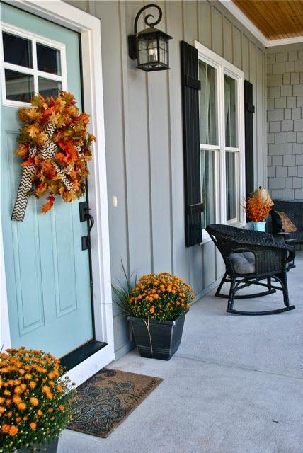 Autumn porch - Exterior paint colors