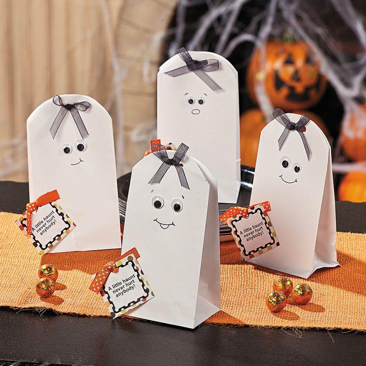 DIY Halloween Ghost Treat Bags