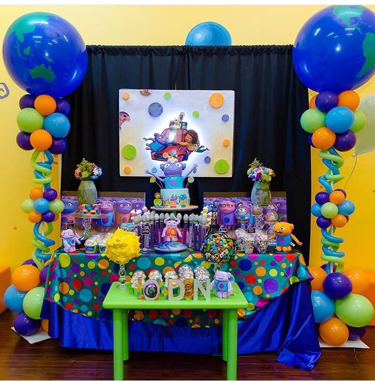 Boov party theme. Dreamworks home. Boov Birthday