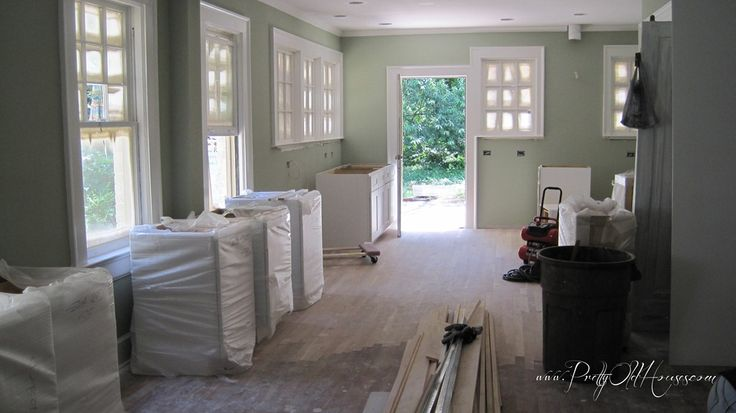 Sherwin Williams Softened Green Just Painted Our