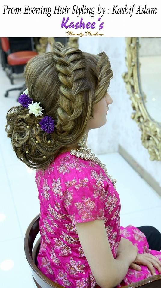 Prom Evening Hair Styling By Kashif Aslam Bridal Updo S