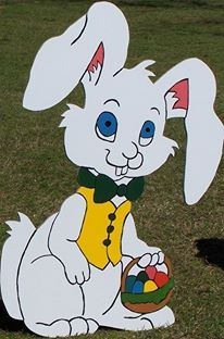Easter Bunny Holiday Yard Art Decoration Homemade Decor