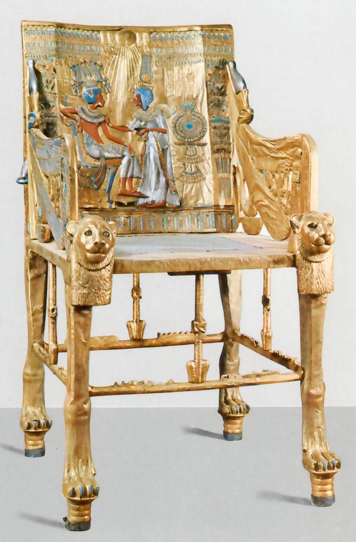 KingTutThrone.jpg (3512×5344) Furniture of Ancient Egypt