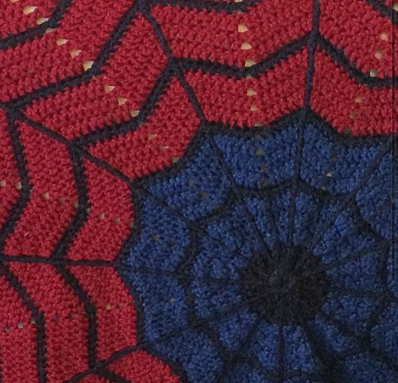 Spider Man Round Ripple Afghan Pattern