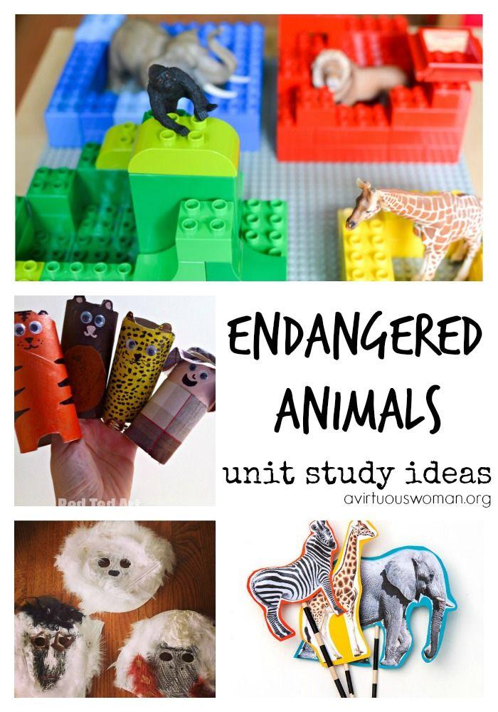 Endangered Animals Unit Study Ideas {Homeschool Freebies