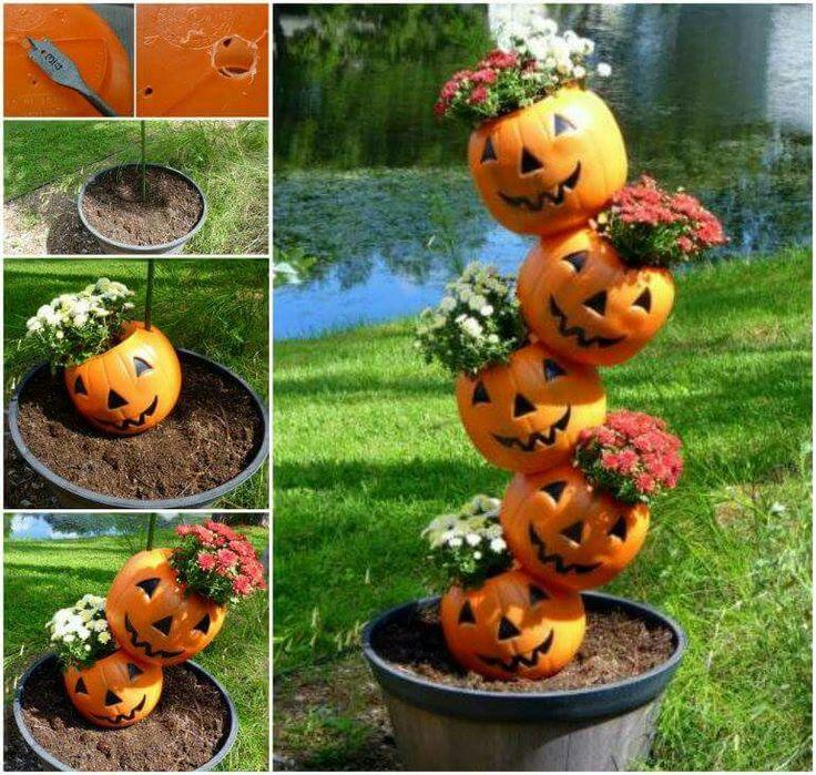 Cool halloween idea. Fall Pinterest Pumpkins