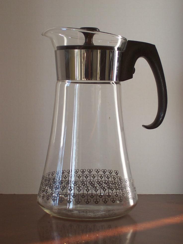 Vintage Pyrex coffee pot / carafe made in USA Carafe