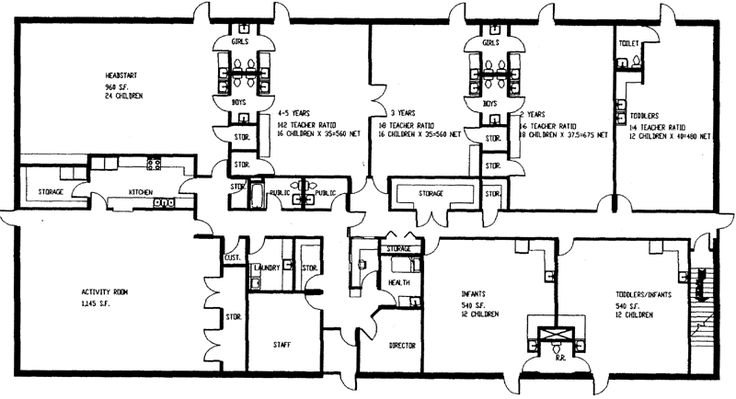 Floor Plan Of Kids World Day Care In Sac City IA