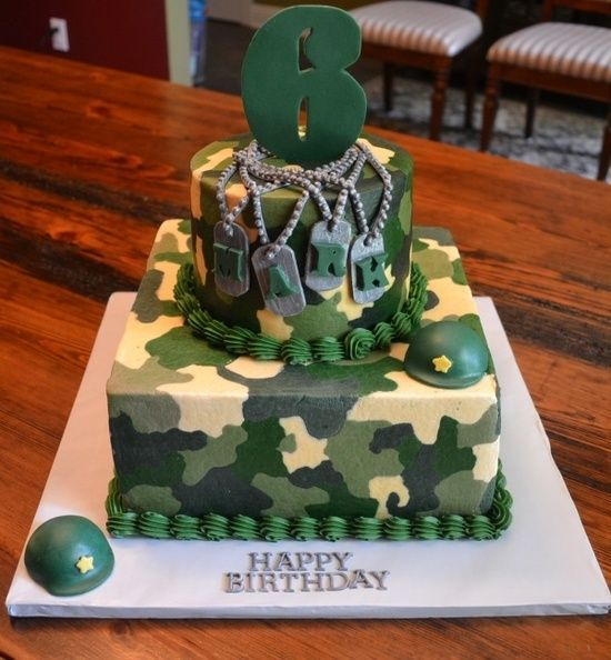 Camouflage Cakes Two Tier Army Camo 2 Tier Cake Cakes