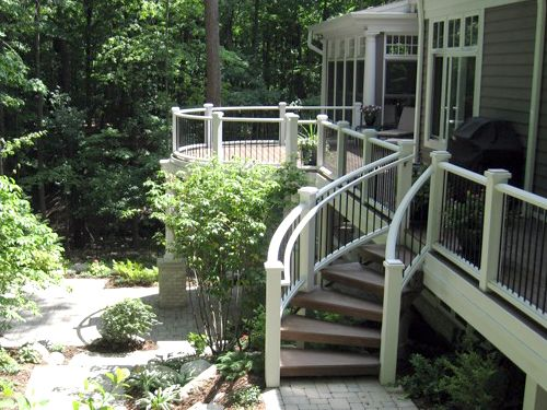 Curved Deck Steps Patio Pinterest Home The O Jays