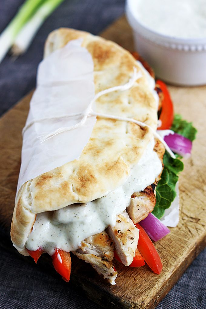 Quick Greek-style chicken gyros you can whip up on busy nights in just 20 minutes, these are a family favorite!
