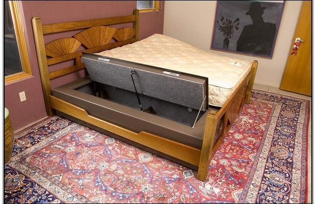 Diy Under Bed Gun Safe Beds And Bed Frames Pinterest