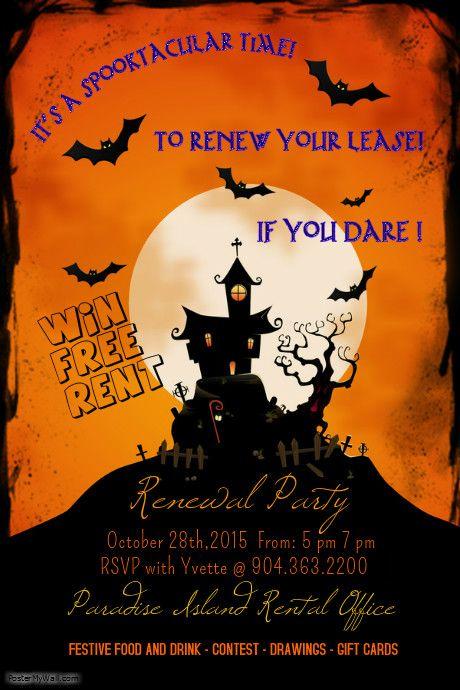 Renewal Party Flyer Halloween 2015 Renewal Pinterest D Flyers And Halloween 2015