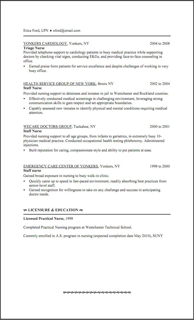 Triage Nurse Resume Sample http//www.resumecareer.info