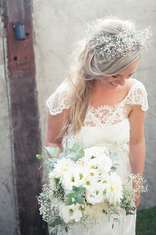 Love The Babys Breath Detail In The Hair Wedding