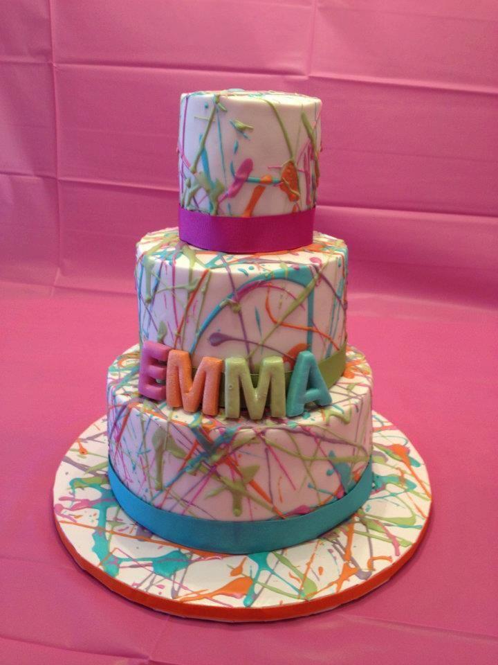 25 Best Ideas About Art Party Cakes On Pinterest Paint