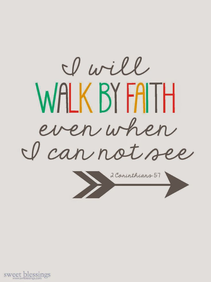 Yes Lord, I will! Even when its hard and I cant see up, down or sideways, I will continue to walk by faith and trust in Your Word