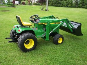 JD 400 with loader | John Deere lawn and garden