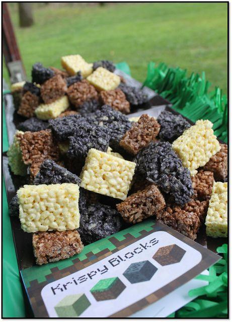 Cereales para fiesta Minecraft