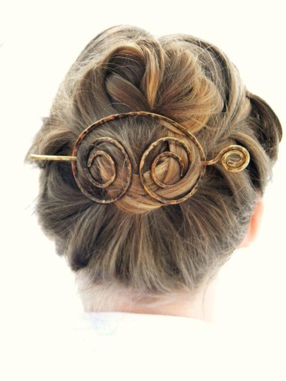 Large Hair Clip Antique Brass Hair Slide Hair