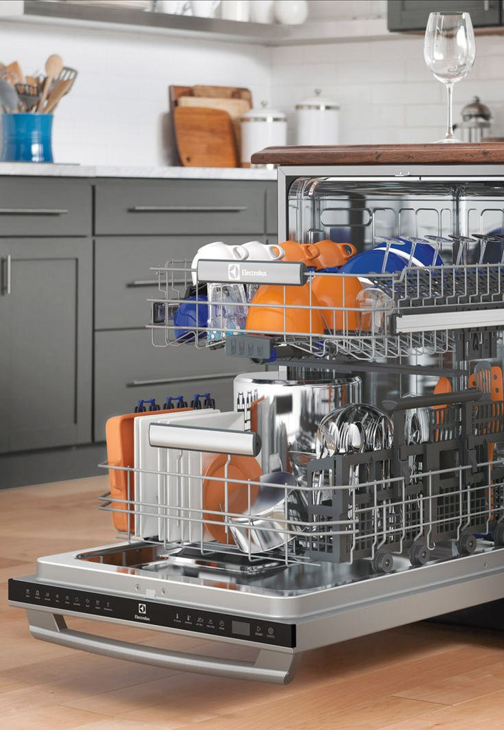 Every plate has its place. From wineglasses to stockpots, Electrolux dishwashers