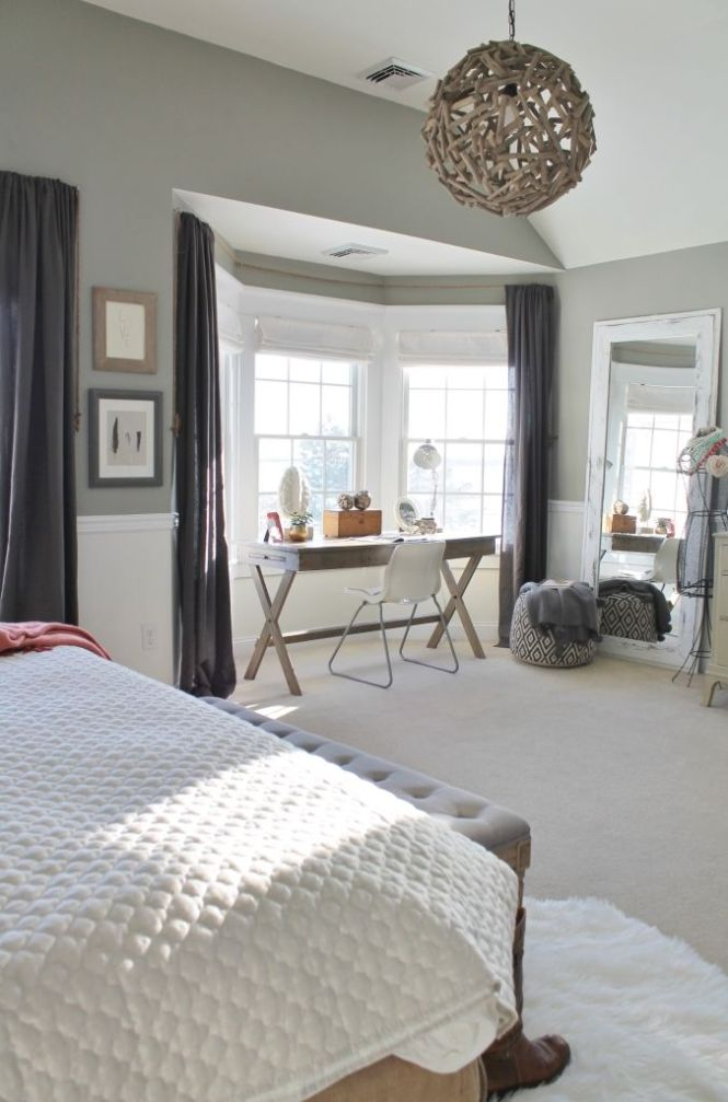 City Farmhouse Rustic Chic Master Bedroom With Grays Warm C