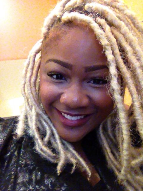 Blonde Dread Extensions With Marley Hair Hair