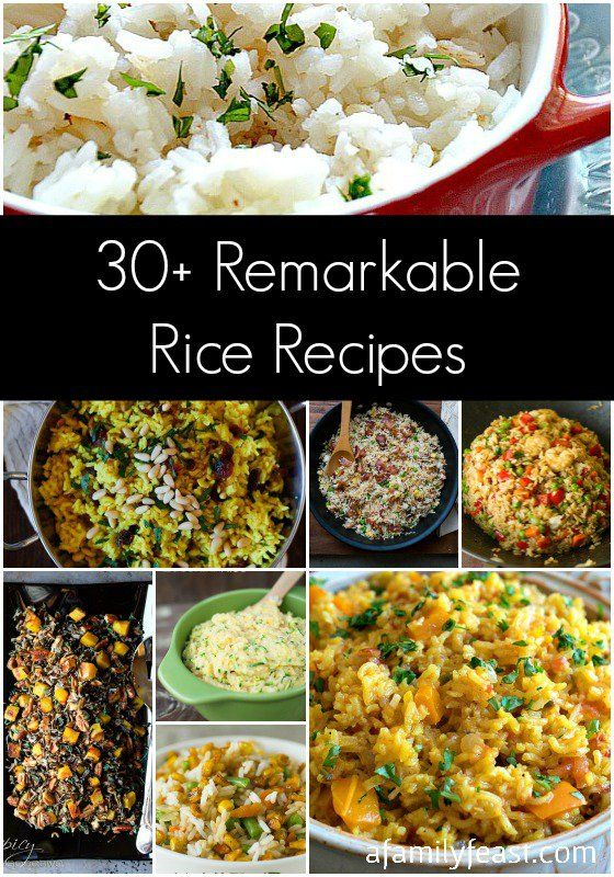 30+ Remarkable Rice Recipes – A great collection of rice recipes with inspiration from around the