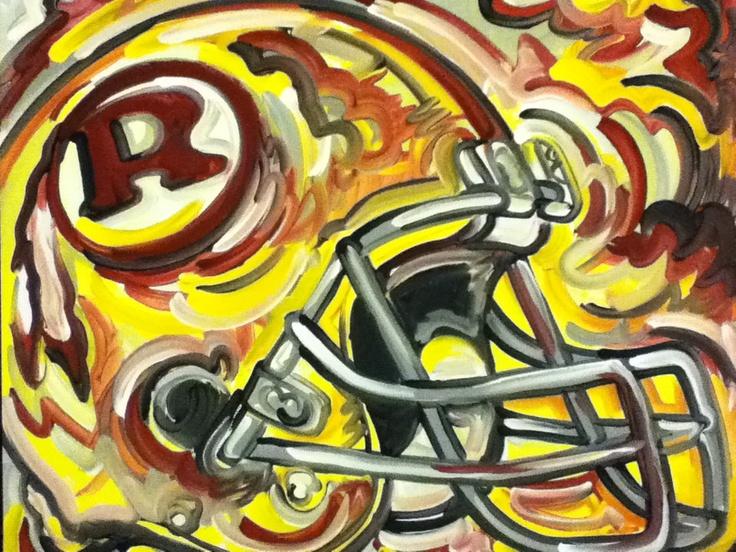 Washington Redskins Painting by Justin Patten Sports Art