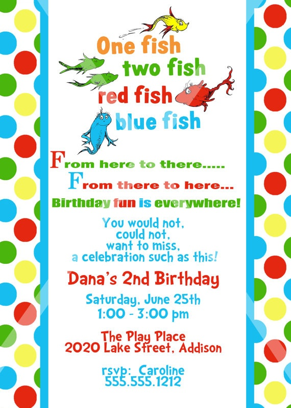 Dr Seuss Themed Bday Party