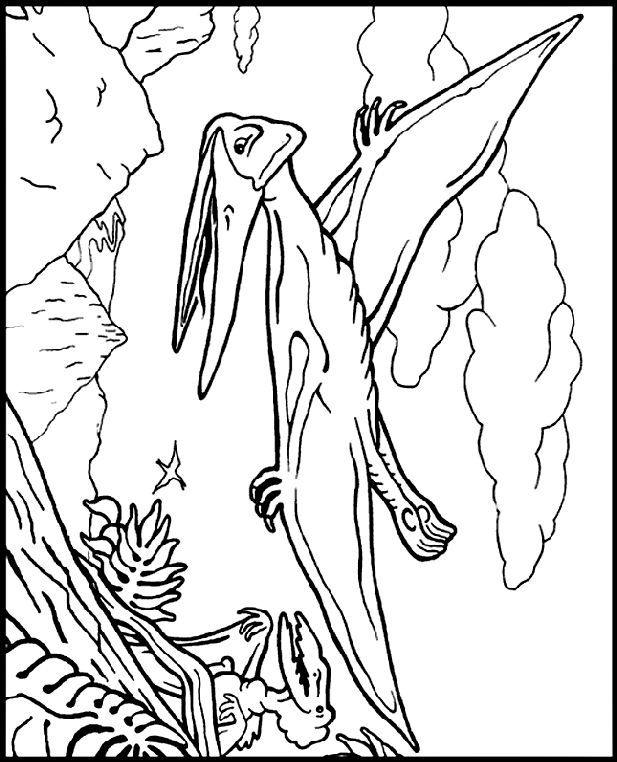 pteranodon coloring page free coloring pages pteranodon coloring