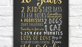 10 year wedding anniversary ideas for him