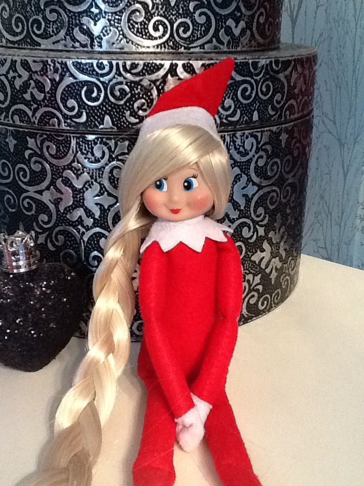 Our new Elf on the shelf with hair ) Remove hat glue gun