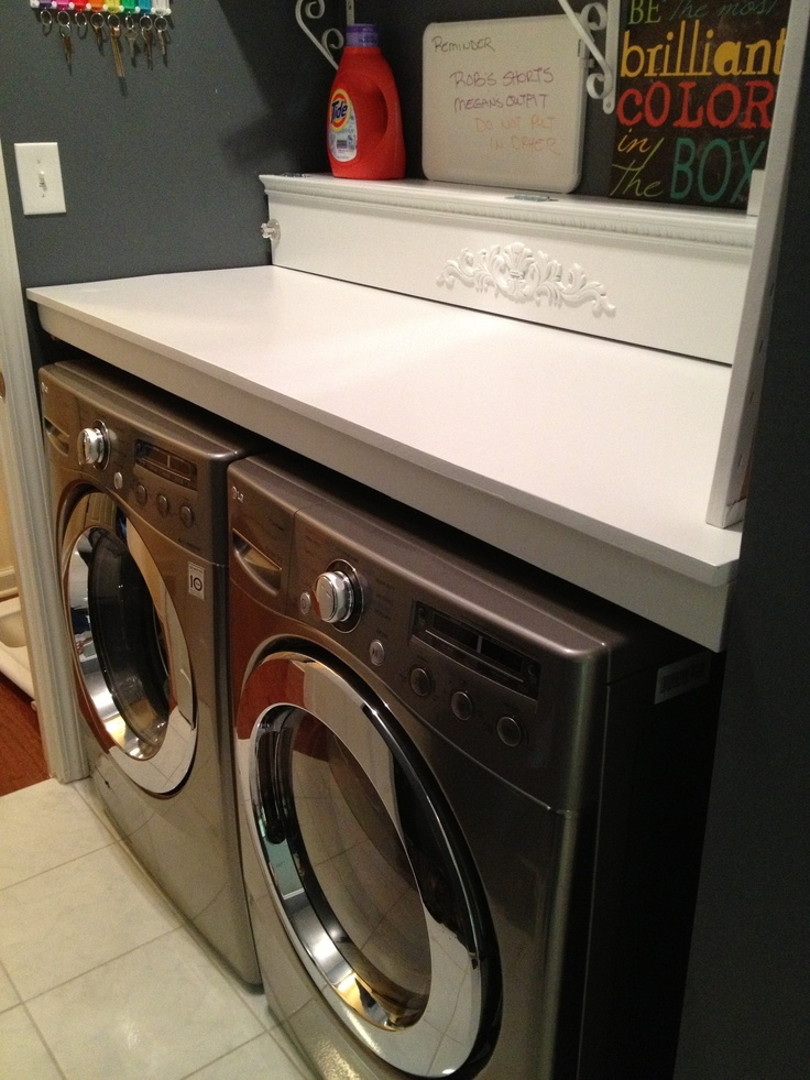 Custom Counter Over Washer And Dryer Removable For The