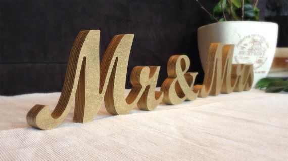 Mr. & Mrs. Letters For Sweetheart Table
