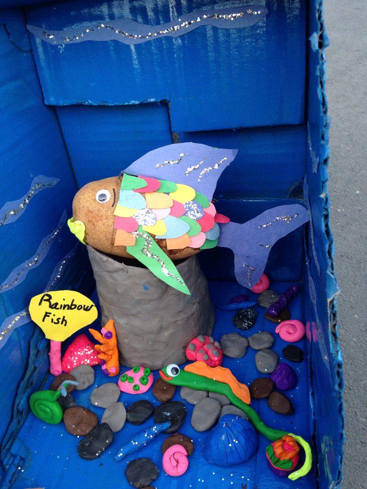 Daughters potato project decorate potato as book