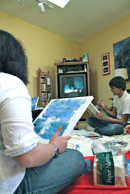 Bob Ross painting party! Holidays/Party Ideas