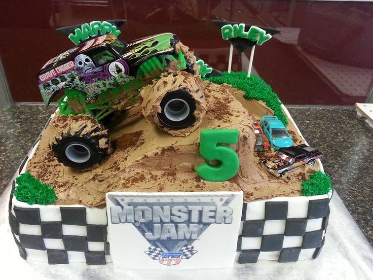 Monster Jam Cake Wyatts Bday Monster Truck Themed