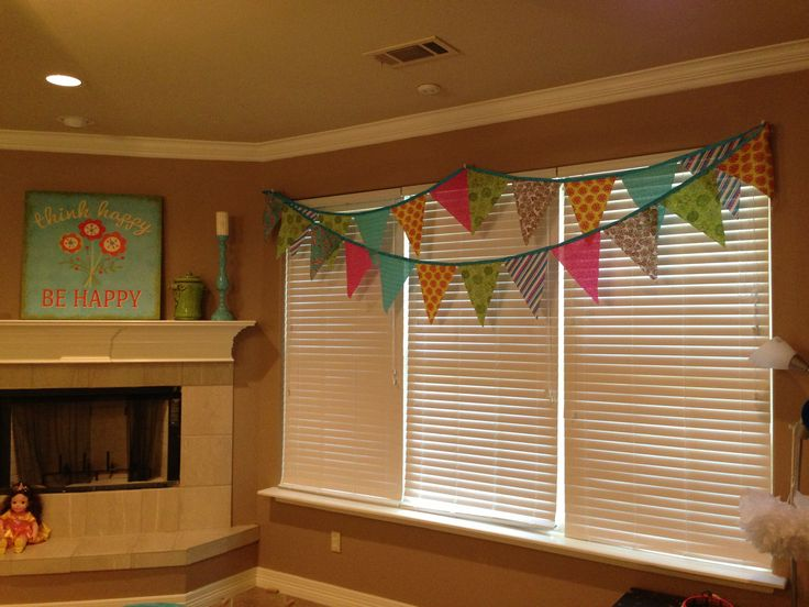 Girls Game Room Flag Banner Valance New House Ideas Pinterest Flag Banners Flags And Girls