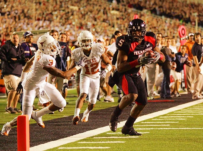 Epic. Michael Crabtree. Texas Tech vs UT, 2008. Jones AT